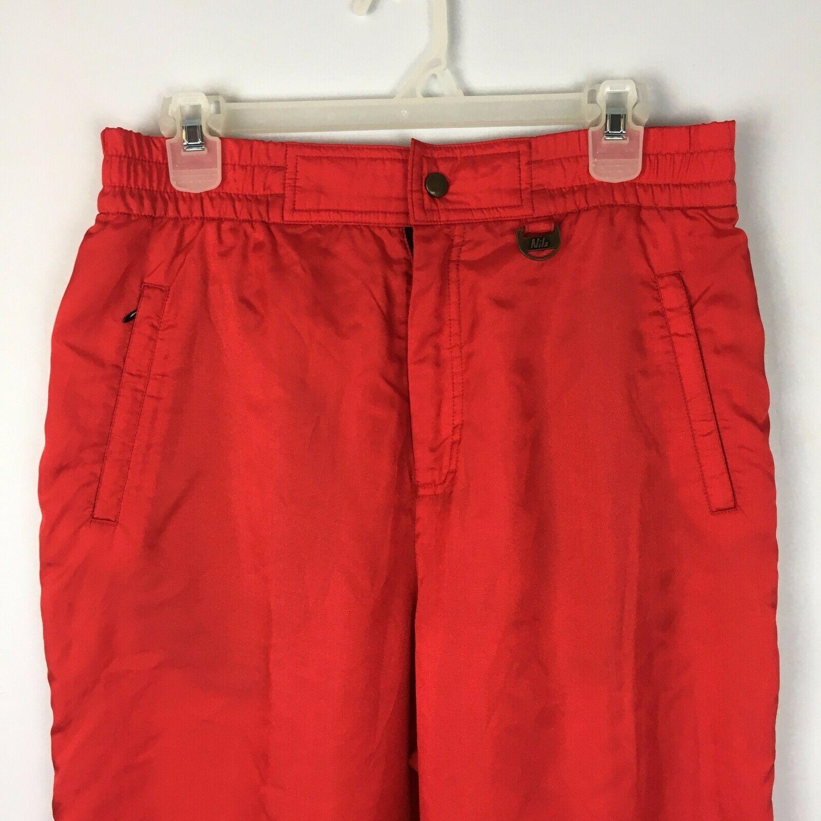 Nils Women's Red Vintage Snowsuit Ski Snow Board Pants Size 16 image 3
