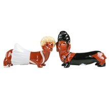 Superstars Dachshund Ceramic Magnetic Salt and Pepper Shaker Set - $12.86