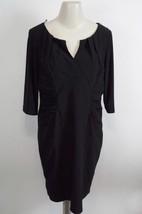 ADRIANNA PEPELL Petite Longsleeve Sheath DRESS sz 12P / 12 P in Black - GUC - $39.59