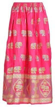 Indian Traditional Ladies Women Free Size Elastic Waist Cotton Long Maxi Skirt - $17.99