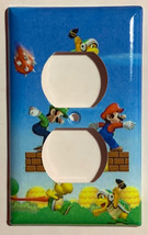 Super Mario Run Light Switch Power Duplex Outlet wall Plate Cover Home Decor image 2