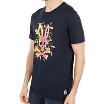 Men's Psycho Bunny Shirt Seymour Graphic Tee Shattered Neon Logo Navy T-shirt image 2