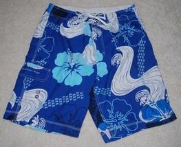 American Eagle Outfitters Swim Trunks Mens 32 W Shorts Pocket Hawaiian Surf AEO - $9.85