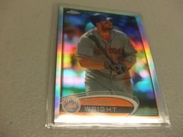2012 Topps Chrome Refractor #41 David Wright New York Mets - $3.12