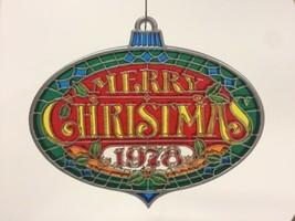 "VTG Hallmark TIFFANY Classics Acrylic ""Merry Christmas 1978"" Ornament  in BOX - $12.99"