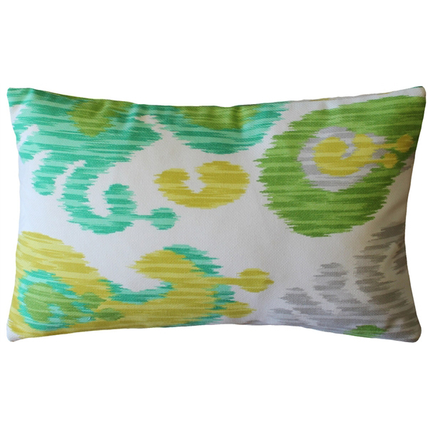 Pillow Decor - Ikat Journey Outdoor Throw Pillow 12x20