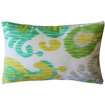 Pillow Decor - Ikat Journey Outdoor Throw Pillow 12x20 - $34.95