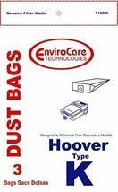 Hoover Type K, Vacuum Cleaner Bags, 3 Pack - $4.46