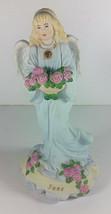Enesco Angel Figurine 6in Vintage June Birthstone 1997 Figure Ceramic Bi... - $14.99