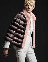 Pink Genuine Empress Chinchilla Fur Coat меховое пальто - $3,564.00