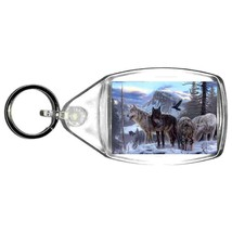 wild wolves handmade in uk from uk made parts keyring, keyfob