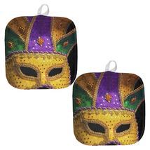 Mardi Gras Mask All Over Pot Holder (Set of 2) - $18.95