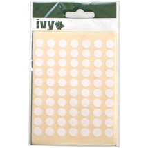980 x Sticky White 8mm Dots Labels Round Circles Self Adhesive Stickers ... - $7.28