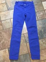 Woman's J Brand Brt Royal Blue Skinny Jeans Size 26 X 29 Euc - $19.79