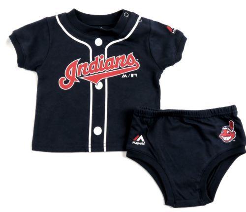 Infant Cleveland Indians Little Player Jersey Set MLB Genuine Baby Baseball Boys