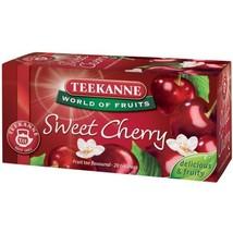 Teekanne Sweet CHERRY Tea - 20 tea bags- Made in Germany - $5.49