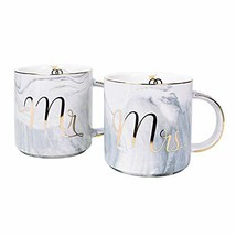 Vilight Engagement Wedding and Bridal Shower Gifts - Mr and Mrs Mugs for... - $25.79