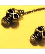 Gold-Tone Skull Earrings, Halloween - $3.50