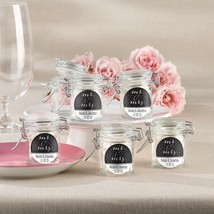 Personalized Glass Favor Jars - Mr. & Mrs. (Set of 12)  - $25.99