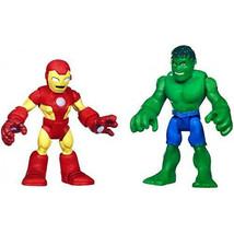 Marvel Playskool Super Hero Adventures Mini Figure 2-Pack Hulk & Iron Man - $16.44