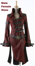 NEW PUNK Rave Gothic Metal Vampire Jacket Coat Y261 Red FAST POSTAGE - $144.69