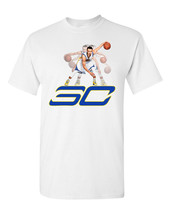 Steph Curry Golden State Dribbling Basketball SUBLIMATION Men's Tee Shirt - $16.36 CAD+