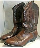 Jack Daniels Men's cowboy Boots Brown pre owned size 10D - $25.69