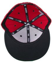 Dissizit! LA Hands 9212 New Era Fitted Cap Red/Wht Pinstripe Hat Baseball image 7