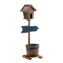 Planter, Welcome Birdhouse Decorative Rustic Patio Outdoor Planter Garden - $1.070,12 MXN