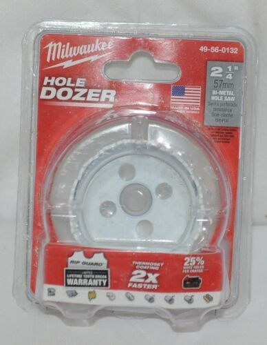 Milwaukee 49560132 Bi Metal HoleSaw Hole Dozer 2 One Quarter Inch