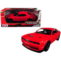 2018 Dodge Challenger SRT Hellcat Widebody Red 1/24 Diecast Model Car by... - $41.48