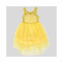 NWT DISNEY TARGET BEAUTY & THE BEAST XS 4 5 Yellow Tulle Dress Belle Bal... - $57.81
