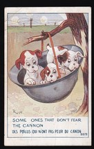 Some Ones That Don't Fear The Cannon Vintage Artists Signed Postcard Right - $4.12