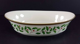 "LENOX China Holiday Dimension 10-1/4"" Oval Vegetable Bowl Dinnerware - $69.29"