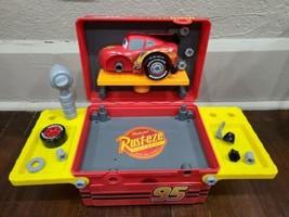 Disney Store Lightning McQueen Disney Cars Mechanic Workbench Toolbox Playset - $22.24