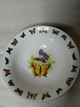Butterflies Tabletops Unlimited Coupe Cereal Bowl A Discontinued Out of Stock LN - $11.65