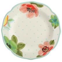 "Four (4) Pioneer Woman ~ Aqua ~ ""Vintage Bloom"" ~ 10.5"" Ceramic Dinner P... - $69.30"