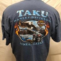 Harley Davidson Taku Juneau Alaska Blue Shirt XL Motorcycles Soaring Eag... - $44.54