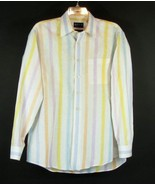 MINE Size L Striped Linen Shirt Country Club - $39.99