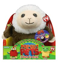 "Pop Out Pets Rain Forest Reversible Plush Toy Get 3 Animals In One 8"" - $6.50"
