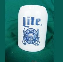 Miller Lite Stoneware Beer Tankard Stein 5L Pottery - $25.69