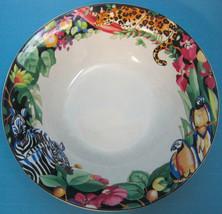 Sakura Vitromaster Sue Zipkin Rain Forest1993 Stoneware Jungle Soup Cereal Bowl - $23.75