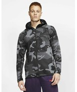 Nike Therma Flex Showtime Basketball Hoodie Black Gray Camo AT4694 XL - $85.49