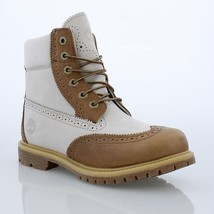 """TIMBERLAND WOMENS 6"""" INCH PREMIUM BROGUE WATERPROOF DOUBLE SOLE BOOTS A1... - $163.83 CAD"""