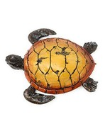 Globe Imports Loggerhead Sea Turtle Resin Statue with Faux Carved Driftw... - $49.14