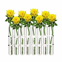 Ivolador 8 Crystal Glass Test Tube Vase Flower Pots for Hydroponic Plant... - $38.27