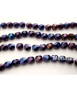 25 6 mm Czech Glass Fire Polished Beads: Iris - Blue - $2.48