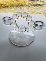 Imperial Elegant Glass 2 Lite Candeholder 400 Circle 11 Ball Clear No Etch - $9.95