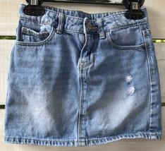 Gap Kids 1969 Girls Sz. 6 Reg Mini Skirt Denim Light Blue Adjst Waist di... - $14.67