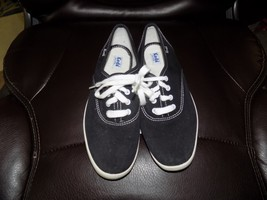 KEDS WF34100M Canvas Black Sneakers Size 6 Women's EUC - $23.52